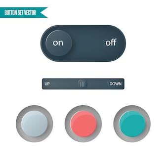 Vecteur de jeu de bouton