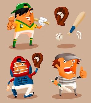 Vecteur de joueur de baseball