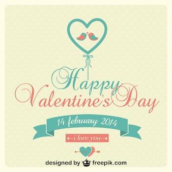 Vecteur de jour carte ballons les tourtereaux de valentine