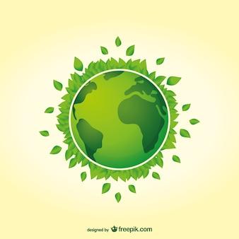 Vecteur de jour de la terre de planète verte