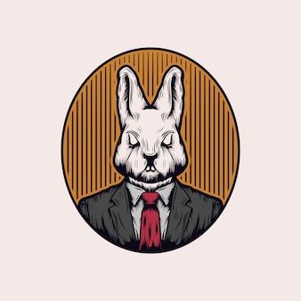 Vecteur de lapin patron