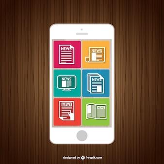 Vecteur de lecture nouvelles smartphone