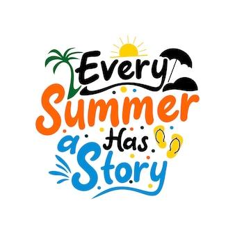 Vecteur de lettrage de conception de citations d'été