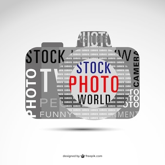Vecteur de lettrage photogaphy logo
