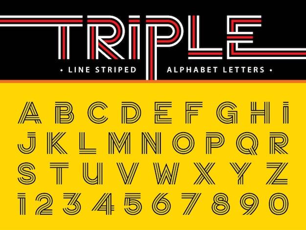 Vecteur des lettres de l'alphabet moderne
