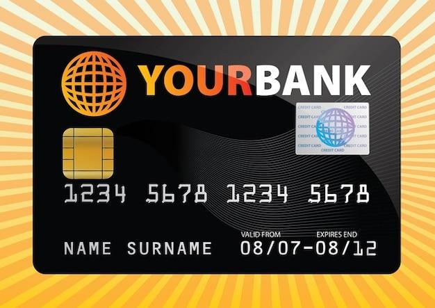 Vecteur libre de carte de crédit