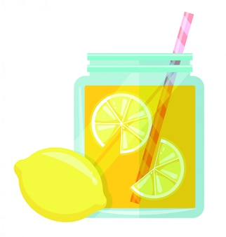 Vecteur de limonade jar