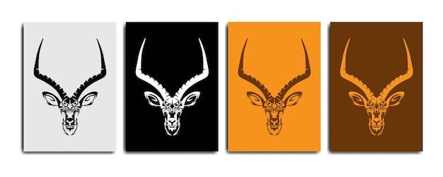 Vecteur de lineart impala