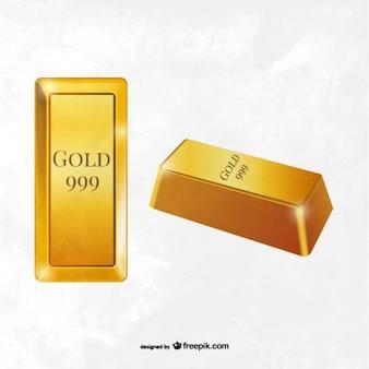 Vecteur de lingots d'or