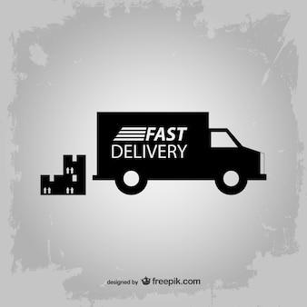 Vecteur de livraison rapide icône