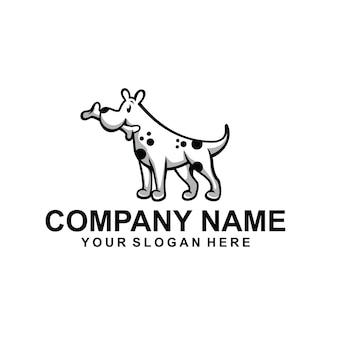 Vecteur de logo animal chien