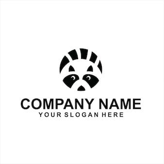Vecteur de logo d'animaux de raton laveur de cercle