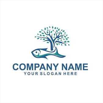 Vecteur de logo arbre aquascape
