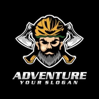 Vecteur de logo aventure, modèle