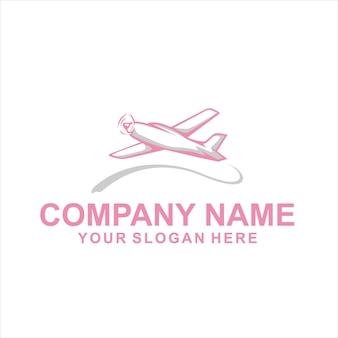Vecteur de logo d'avion unique