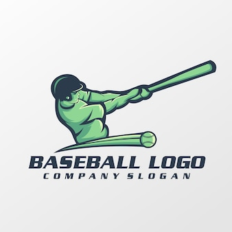 Vecteur de logo de baseball, modèle, illustration