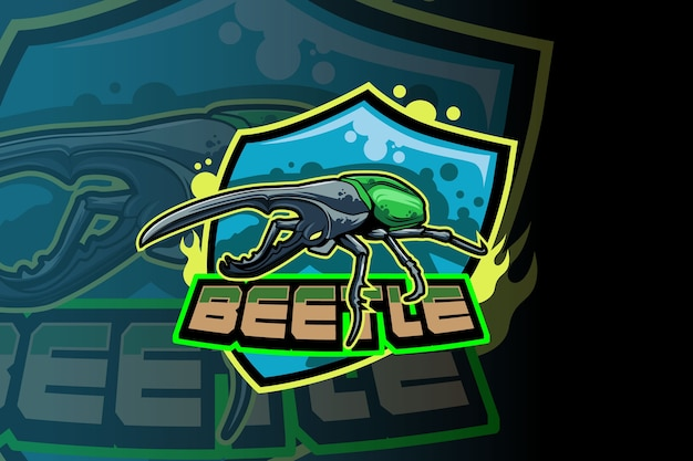 Vecteur de logo beetle squad e sport