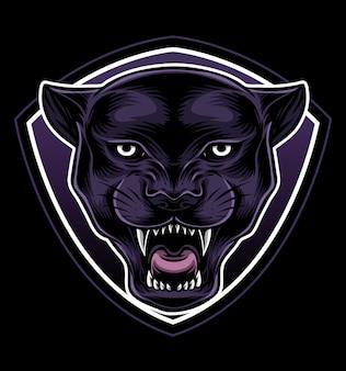 Vecteur de logo blackpanther