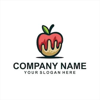 Vecteur de logo de boulangerie pomme
