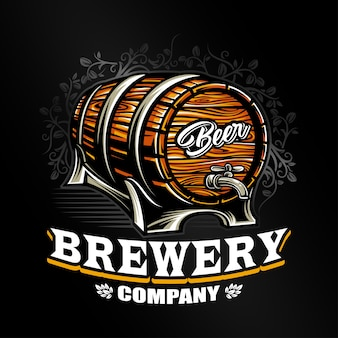 Vecteur de logo de brasserie