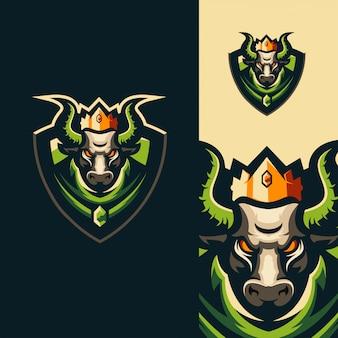 Vecteur logo bull