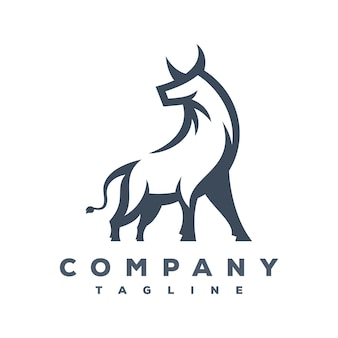 Vecteur de logo bull