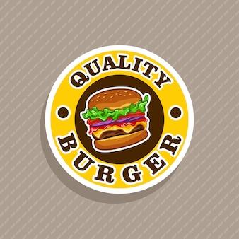 Vecteur de logo burger