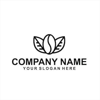 Vecteur de logo de café noir