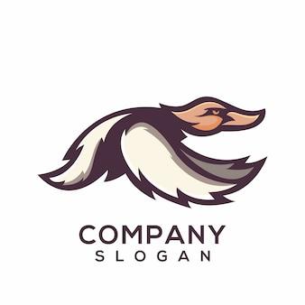 Vecteur de logo de canard