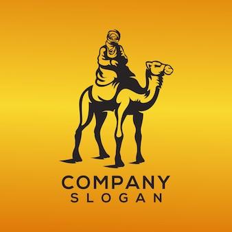 Vecteur de logo chameau