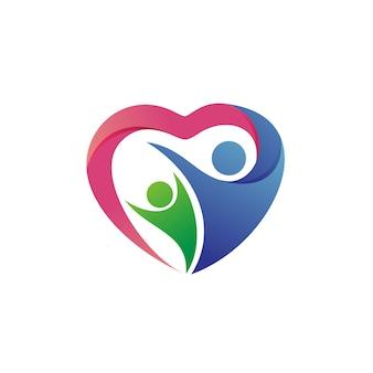 Vecteur de logo de charité et de fondation