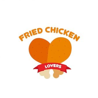 Vecteur de logo chciken frit.