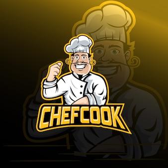 Vecteur de logo chef cuisinier
