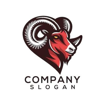 Vecteur de logo de chèvre