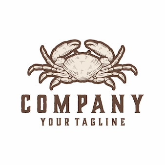 Vecteur de logo de crabe