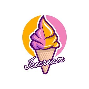 Vecteur logo crème glacée