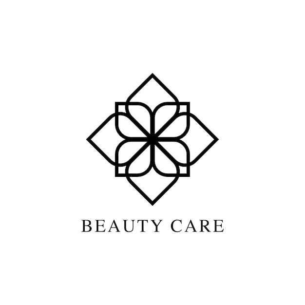 Vecteur de logo design beauté soins
