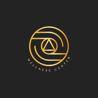 Vecteur de logo design centre de bien-être