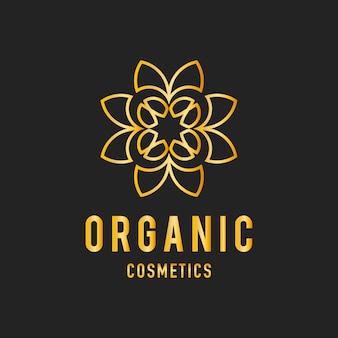 Vecteur de logo design cosmétique bio