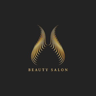Vecteur de logo design salon de beauté