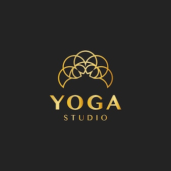 Vecteur de logo design studio de yoga