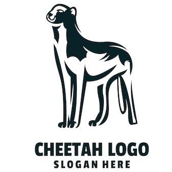 Vecteur de logo de dessin animé de guépard