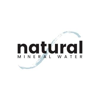 Vecteur de logo d'eau minérale naturelle