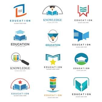 Vecteur de logo de l'éducation