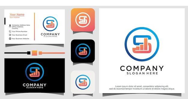 Vecteur de logo d'entreprise de flèche commerciale
