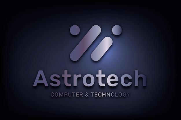 Vecteur de logo d'entreprise modifiable avec mot astrotech