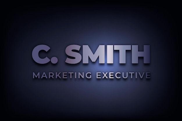 Vecteur de logo d'entreprise modifiable avec texte exclusif marketing