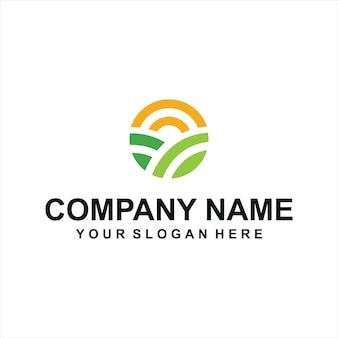 Vecteur de logo de fermes vertes