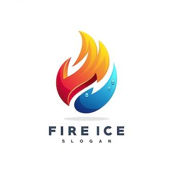 Vecteur de logo feu et eau