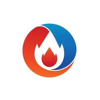Vecteur de logo de feu